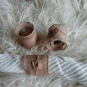 Handmade napkin rings set of 4